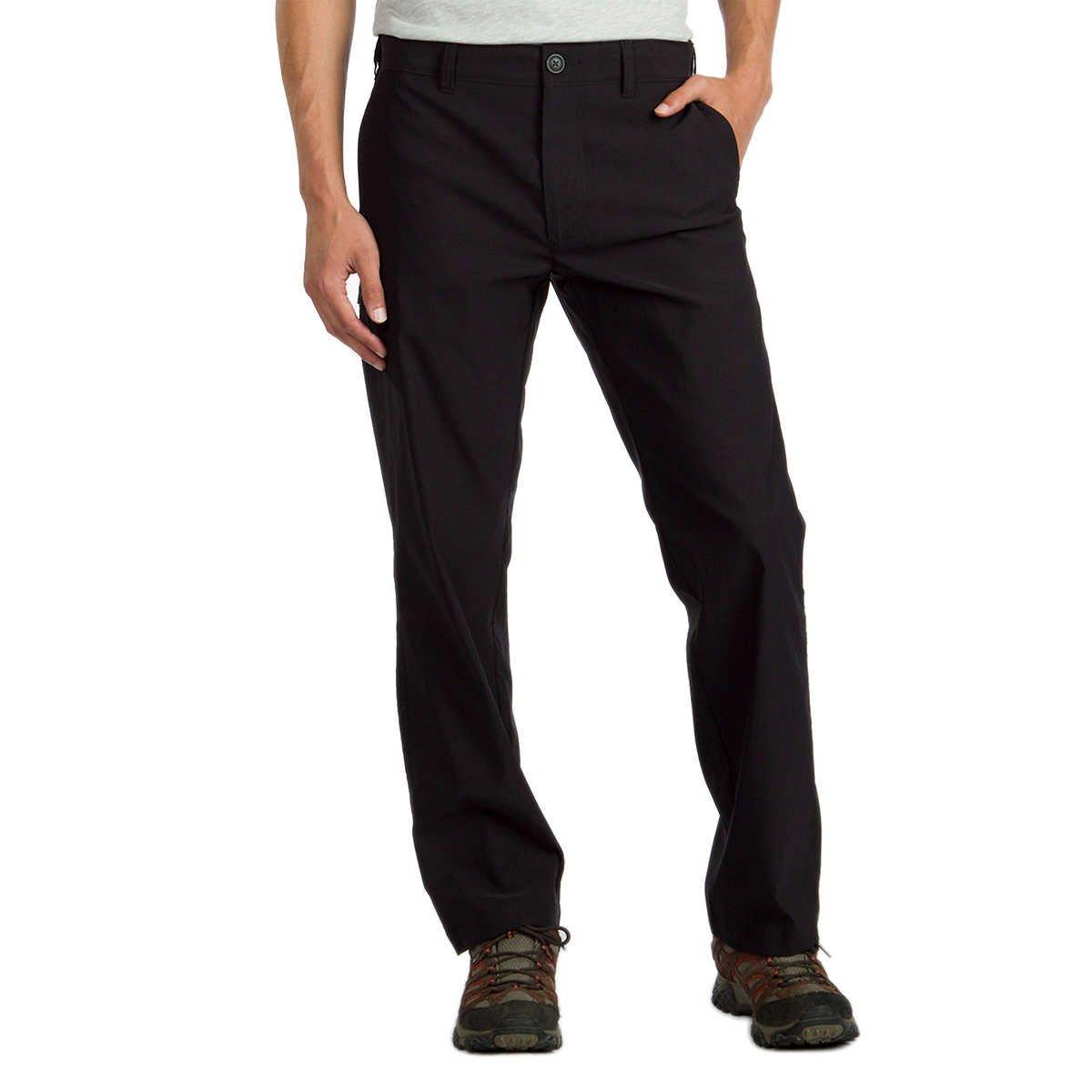 UB Tech by Union Bay Men's Classic Fit Comfort Waist Chino Pants (34 x 30, Black)