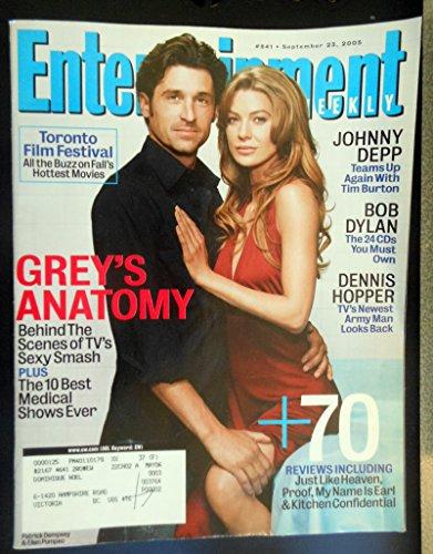 Entertainment Weekly September 23, 2005 Patrick Dempsey & Ellen Pompeo/Grey