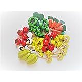 Obst und Gemüse für den Kaufmannsladen 40 Teile