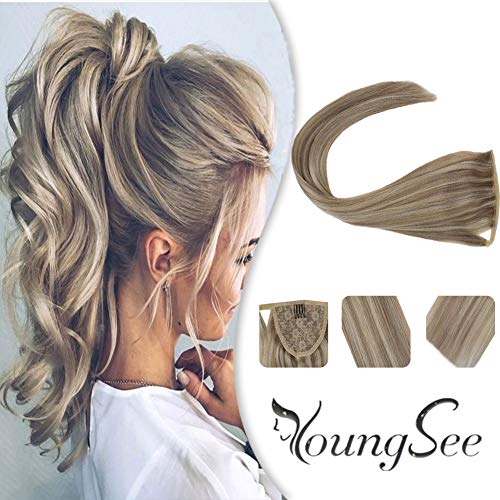 Youngsee Ponytail Extensions Straight Highlight