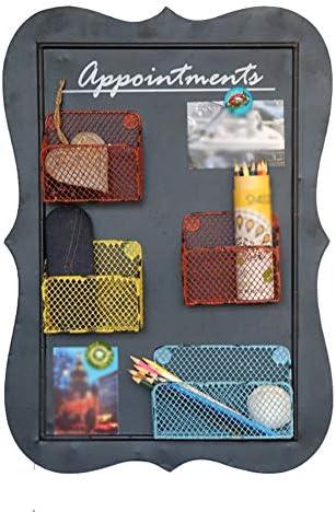 GUOWEI ウォールシェルフ ストレージ ディスプレイ マガジン 鉄 黒板 マグネティック シンプル (色 : 黒, サイズ さいず : 43x9x61cm)
