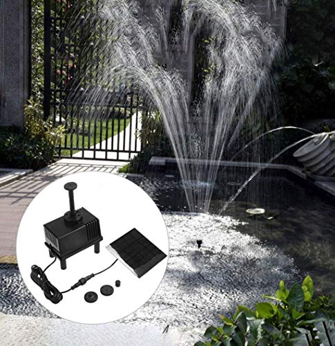m·kvfa New Generation Solar Fountain Pump Kit Free Standing 1.5W Solar Panel Water Pump for Garden Pond Fountain Pool Submersible
