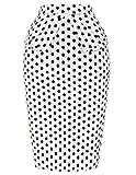 50s Vintage Rockabilly Women Skirt Dresses Petticoat (M) KL-9 CL8928, White&Black