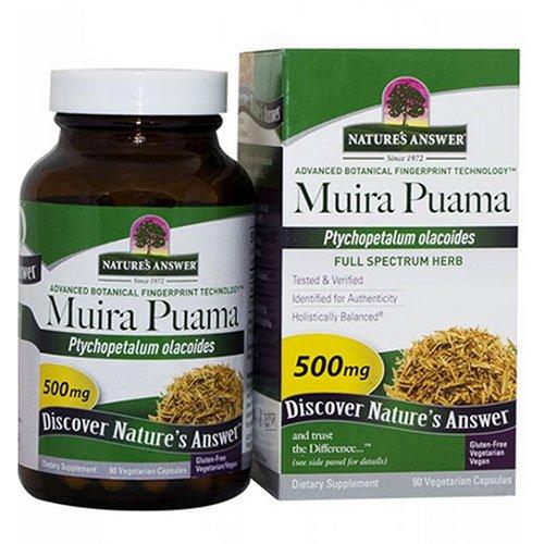 Muira Puama 500 mg - 90 Vegetarian Capsules