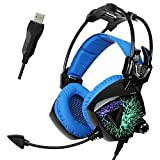 Cheap Sades Mo Ling USB Gaming Headset Stereo Headphones with Mic (Black)