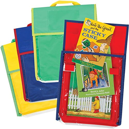 Store More Medium Clearview Book Pouches - Primary Colors - Set Of 36 by Really Good Stuff