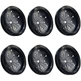 6 Pack Garbage Disposal Splash Guard/Sink Baffle Replacement Waste Food Disposal Drain Stopper Part for Kitchen (3-1/8 Inch in Diameter) - Fits Whirlaway, Waste King, Sinkmaster and GE Models