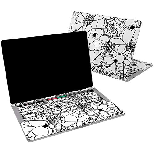 Lex Altern Vinyl Skin for MacBook Air 13 inch Mac Pro 15 Retina 12 11 2019 2018 2017 2016 2015 Spider Web Silk Black Pattern Gothic Funny Teen Print Laptop -