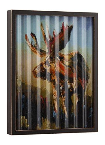 DEMDACO Big Sky Carver Moose Corrugated Metal Art