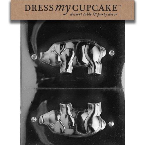 Dress My Cupcake DMCA098 Chocolate Candy Mold, 3D Standing Pig (Pig Chocolate Mold)