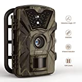 Trail Camera 12MP 1080P 2.4'' LCD IP66 Hunting Camera 0.5 Trigger Time with 940nm IR 24LEDs Night Vision No Glow Camera up to 65ft/20m Wildlife Trail Camera 【Upgraded】