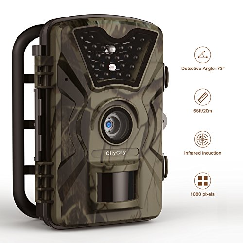 "Price comparison product image Trail Camera 12MP 1080P 2.4"" LCD IP66 Hunting Camera 0.5 Trigger Time with 940nm IR 24LEDs Night Vision No Glow Camera up to 65ft/20m Wildlife Trail Camera Upgraded"