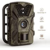 Trail Camera 12MP 1080P 2.4 LCD IP66 Hunting Camera 0.5 Trigger Time with 940nm IR 24LEDs Night Vision No Glow Camera up to 65ft/20m Wildlife Trail Camera 【Upgraded】