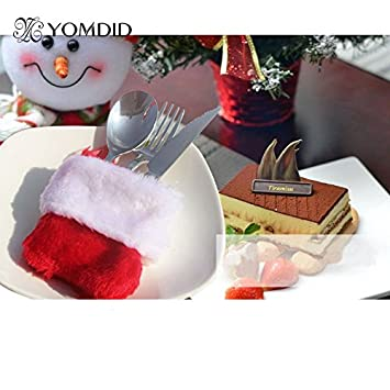 Strist(TM) Chriatmas Cutlery Bag Ornaments Lovely Candy Money Gifts Stocking Bag Suit for