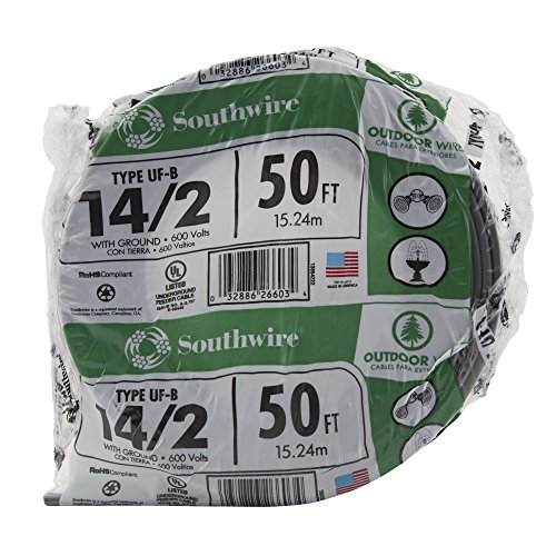 Southwire 13054222 14/2WG UF Wire 50-Foot