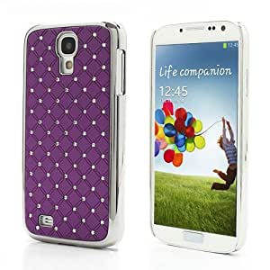 JUJEO Electroplating Rhinestone Starry Sky Back Case Cover for Samsung Galaxy S4 IV i9500 i9505 - Non-Retail Packaging - Purple