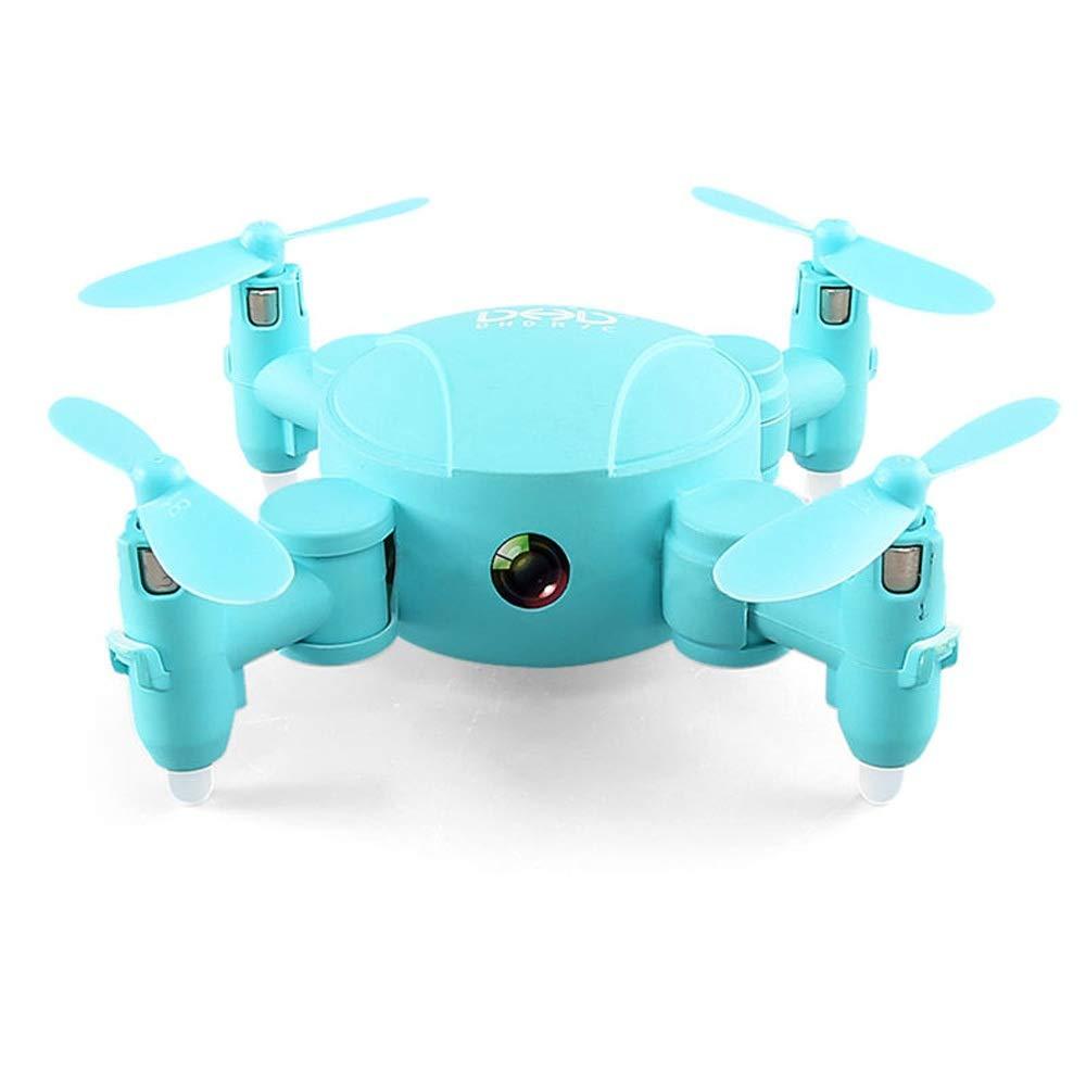 Blau Wapipey Mini Pocket Drone WiFi FPV 720P Kamera Höhenmodus RC Drone Grün Blau Kamera Luft Fotografie Quadcopter Für Kinder Geschenke RC Spielzeug (Farbe   Blau)