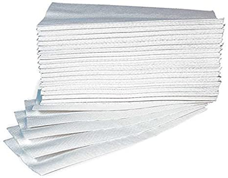 Toallas Papel Desechable Para Dispensador - Doblado a-Z - Tablero - Pura Celulosa Interfoil - N. 25 Pack de 150 pz: Amazon.es: Hogar