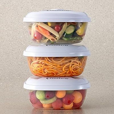FoodSaver T020-00024-I - Set de 3 recipientes para envasar al ...