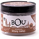 BOU Mushroom Gravy Cubes, Pack of Six (6) 2.53 Ounce Containers Packed with Natural, Traditional Ingredients, Vegan