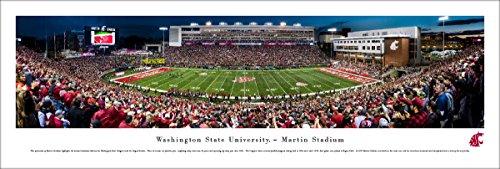 Washington State Football - 50 Yard  - Blakeway Panoramas Unframed College Sports Posters (Field Washington Usa Framed)