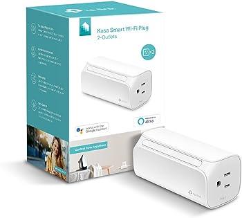 TP-Link Kasa HS107 Smart WiFi Plug with 2 Outlets