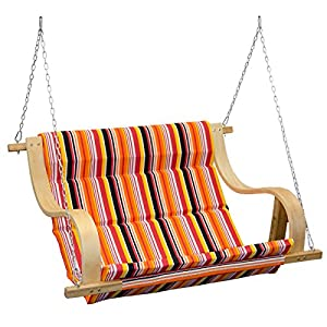 AMANKA Garden Porch Swing Swinging Fabric Bench Hollywood Swing Seat Chair with strong Metal Binding Perfect for Indoor…