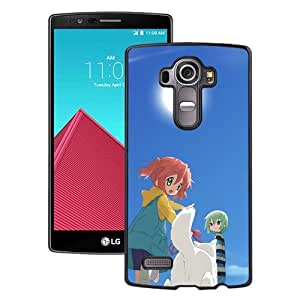 Popular And Unique Designed Cover Case For LG G4 With Girl Boy Walking Cat Sun black Phone Case BY icecream design