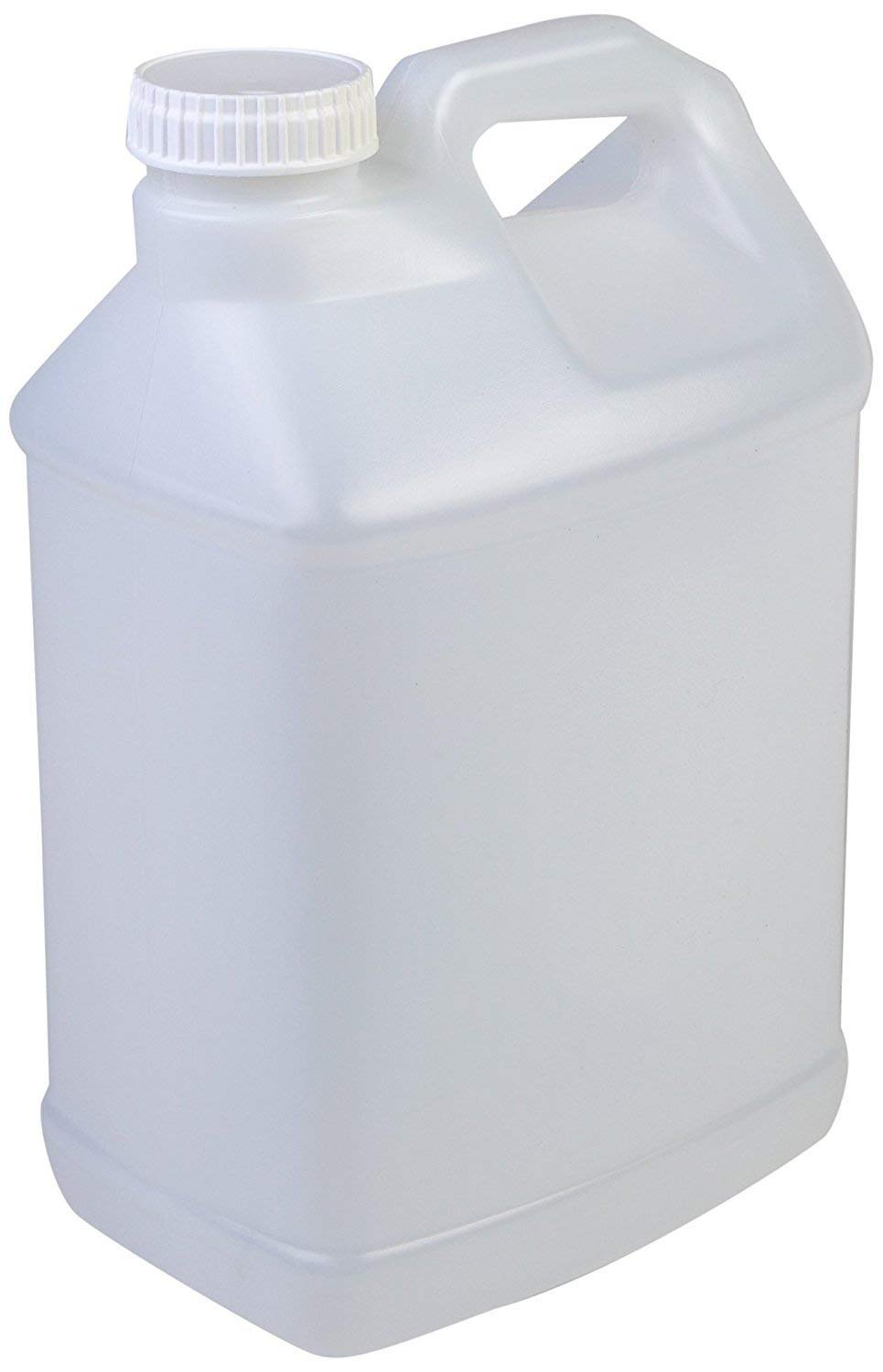 Hudson Exchange 2.5 Gallon Hedpak Container with Cap, HDPE, Natural, 4 Pack