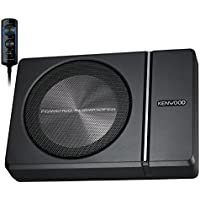 Kenwood KSC-PSW8 250W Max (150W RMS) Single 8 Under Seat Powered Subwoofer Enclosure w/ Remote Control