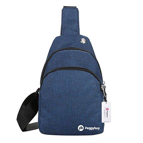PB Bolsas pecho azul color lona PEGGYBUY el para de BrwB5Aq