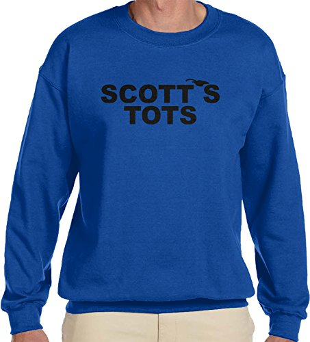 (Amdesco Men's The Office Scott's Tots Crewneck Sweatshirt, Royal Blue XL)