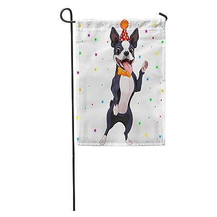 3d4137e6f635 Amazon.com : Semtomn Garden Flag Dog of Cute Boston Terrier ...