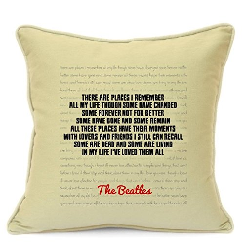 Presents Gifts For Him Her Husband Wife Girlfriend Boyfriend Couples Wedding Anniversary Valentines Day Christmas Xmas Beatles Fans Lovers Cushion Cover 18 Inch 45 Cm Love Romantic Gifts