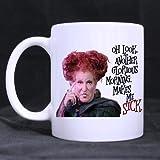 2buymore Mug Hocus Pocus 11 OZ White Mug 100% Ceramic Coffee/Tea White Cup
