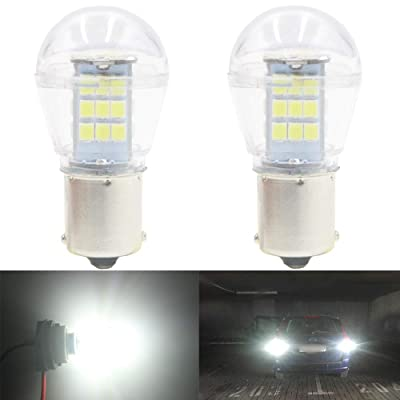 AMAZENAR 2-Pack 1156 BA15S 1141 1003 7506 1073 Extremely Bright White LED Light 9-30V-DC, 2835 33 SMD Replacement Bulbs for Interior RV Camper Tail Back Up Reverse Bulbs Day Running Light: Automotive