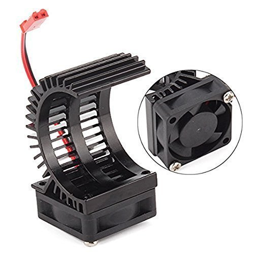 Brushless Electric Engine Motor Heatsink with Cooling Fan RS540 550 540 Size 5-6V Heat Sink For Remote Control RC Hobby Car Truck Buggy Crawler (Motor Brushless Heatsink)