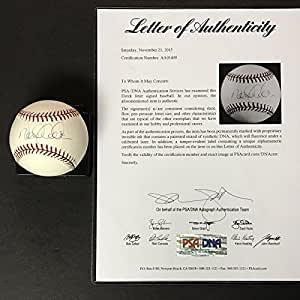 Autographed/Signed Derek Jeter Rawlings Official Major League ROML Baseball PSA/DNA COA/LOA