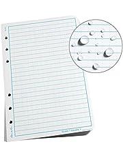 "Rite In The Rain Weatherproof Loose Leaf Paper, 4 5/8"" x 7"", 32# White, Universal Pattern, 100 Sheet Pack (No. 372)"