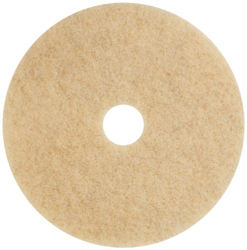 Glit 20403 TK Polyester Blend Jackeroo Natural Hair Floor Pad, Synthetic Blend Resin, Kaolin Grit, 20