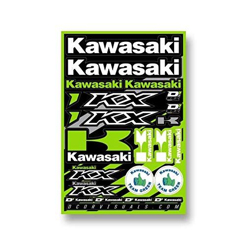 D'cor Visuals 40-20-100 Kawasaki Decal - Kawasaki Racing Decals
