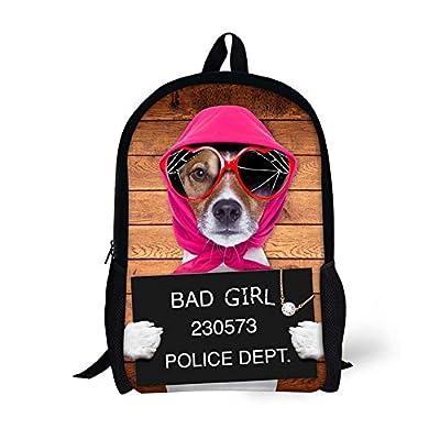 44a358dd84e2 good HUGS IDEA Cute Peg Dog Printing Backpack Children School Bag ...