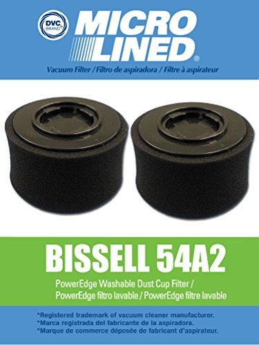 2 Bissell PowerEdge Pet Washable HEPA Cartridge & Foam Filte