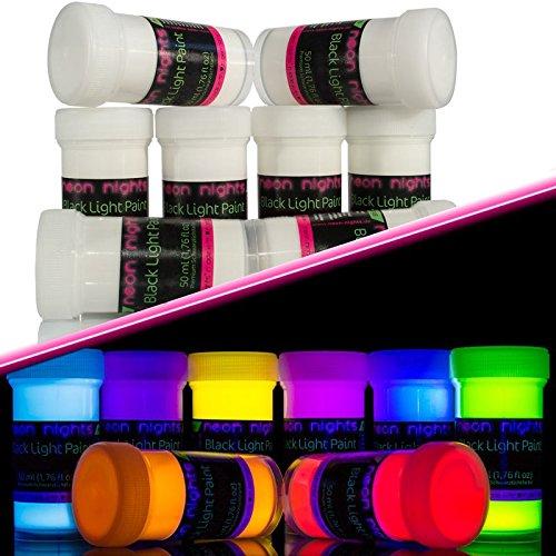 22 opinioni per neon nights 8 x Vernice UV Neon Fluorescente Colorata Luminescente Invisibile