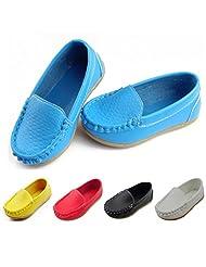 Datelight Toddler/Little Kid Boys Girls Babys Soft Split Leather Loafer Slip-On Boat-Dress Shoes/Sneakers