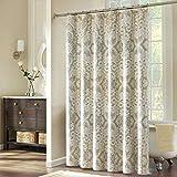 DS BATH Palermo Shower Curtain,Polyester Waterproof Fabric Shower Curtain,Printing Shower Curtains for Bathroom,Decorative Bathroom Curtains,72' W x 72' H