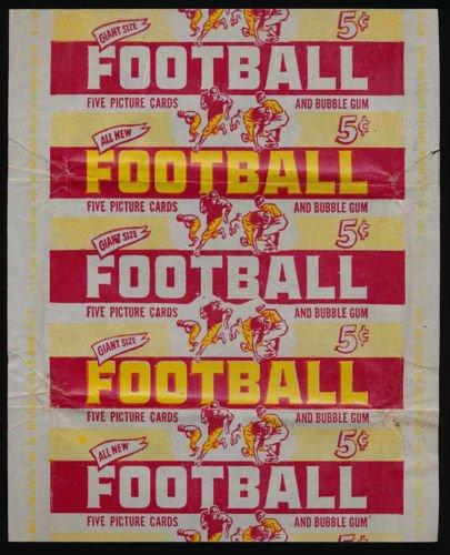 1952 Bowman Large Football Gum Card Wrapper