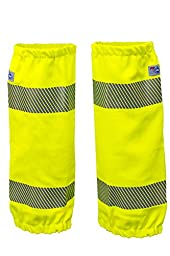 National Safety Apparel L05TVCE FR Hi-Vis Leg Gaiters, One Size, Fluorescent Yellow