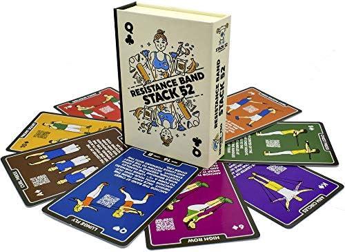 Staco 52 tarjetas de ejercicios de banda de resistencia.: Amazon.es: Deportes y aire libre