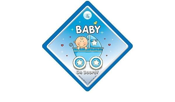Bebé a bordo señal de coche, Nieto a bordo, bebé coche señal ...